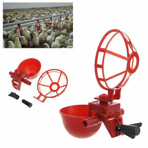 New 5 Pack Poultry Water Drinking Cups Plastic Chicken Hen Automatic Drinker