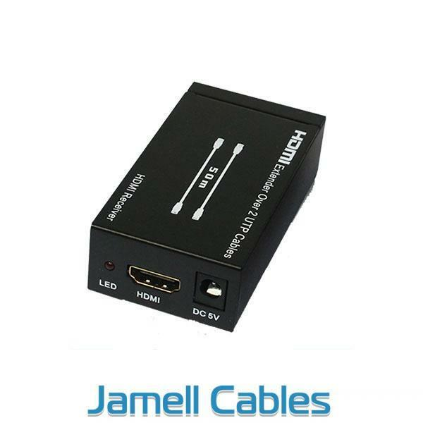 HDMI Extender over Double CAT5e/CAT6 with IR Extender 50m (Supports Foxtel)