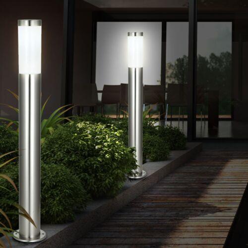 LED 7 Watt Aussen Beleuchtung IP44 Garten Steh Leuchte 560 Lumen Edelstahl Lampe