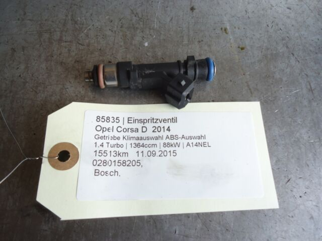 inyector de combustible Opel Corsa D 0280158205 1.4 Turbo 88kW A14NEL 85835