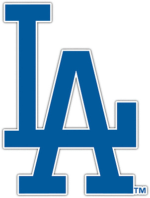 "Los Angeles Dodgers MLB Baseball Car Bumper Window Sticker Decal 4.1/""X5/"""