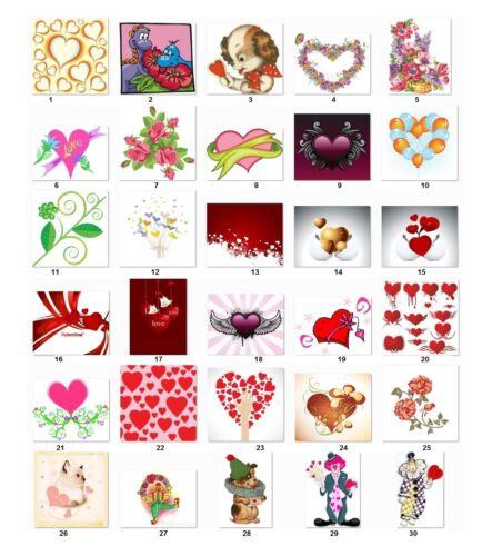 30 Personalized Return Address Labels Valentine Hearts Buy 3 get 1 free v3