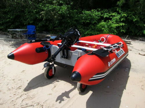 SATURN Boat Transom Launching Wheels For Inflatable Aluminum Fiberglass Trolley