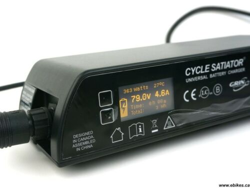 Grin Cycle Satiator 72 volt e-bike battery charger.(20-103 volt PC programmable)