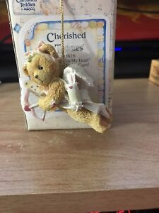 Cherished Teddies by Enesco SENDING YOU MY HEART Girl Bear Cupid NEW nib 103616
