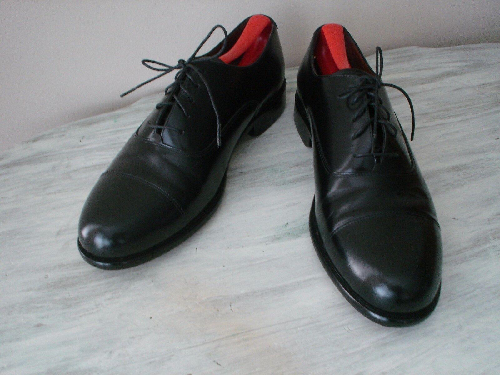 Bostonian Classics Homme en Cuir Noir Cap Toe Lace Up chaussures US 10 1 2 M excellent état utilisé