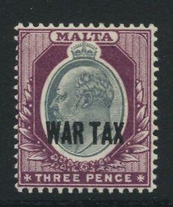 EVII-THREE-PENCE-WAR-TAX-STAMP-FROM-MALTA