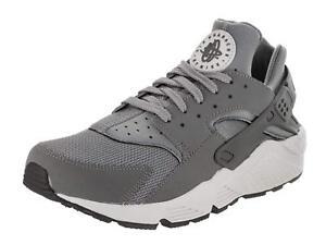 reputable site 4de21 f1a33 Image is loading Nike-Air-Huarache-Cool-Grey-White-318429-048