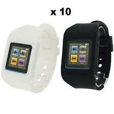 Rubz White Black Watch Band Case Cover for Apple iPod Nano 6th Gen 10 Packs of 2