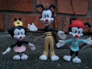 Vintage-1994-Warner-Brothers-ANIMANIACS-Yakko-Wakko-Dot-Bendy-Bend-Ems-Figure
