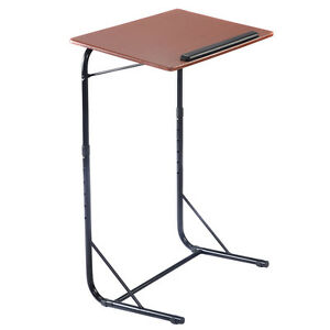 Height Adjustable End Stand Tray Beside Sofa Computer Laptop Notebook Holder