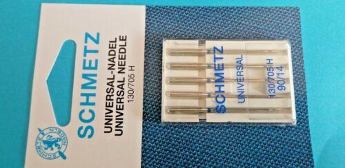 10 agujas de las máquinas de coser plana pistón aguja 14//90 normal y 8//60 para las sustancias fina