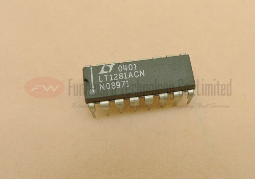 Linear LT1281ACN Dual Transmitter//Receiver RS-232 PDIP16 X 1PC