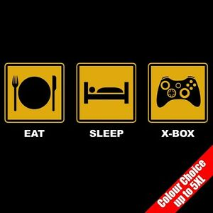 Eat-Sleep-X-BOX-Gaming-360-Video-Game-PS-Funny-T-Shirt-Gifts-16-Colours-to-5XL