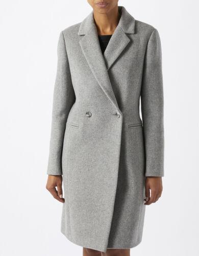 6 Henrietta laine moine en Trench Veste coat Midi gris Manteau en laine Crombie B7wqq