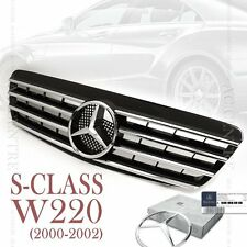 Gloss Black Front Mesh Grille Sport AMG for Mercedes Benz S Class W220 2000-02