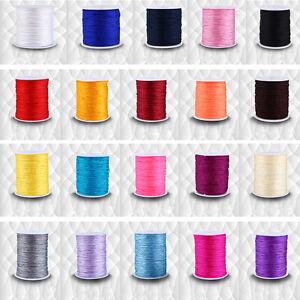 100M x 0.8mm Nylon Chinese Knot Cord Rattail Macrame Shamballa Thread String GE