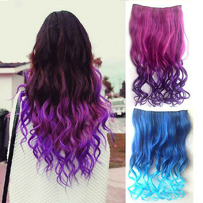 Charming Women Hair Synthetic Full Head Clip in Long Curly Hair Extensions HNLK9
