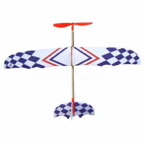 Kid-Elastic-Rubber-Band-Powered-Foam-Plane-Model-Educational-DIY-Aircraft-Kit