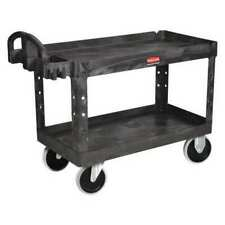 Rubbermaid Fg454600bla Structural Foam Utility Cart With Deep Lipped Plastic