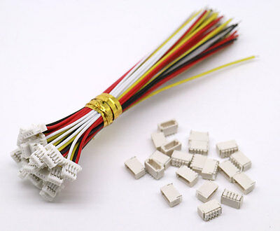 20 SETS Mini Micro SH 1.0 4-Pin JST Connector with Wires Cables 100MM