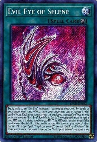 - Secret Rare 1st Edition Evil Eye of Selene INCH-EN032