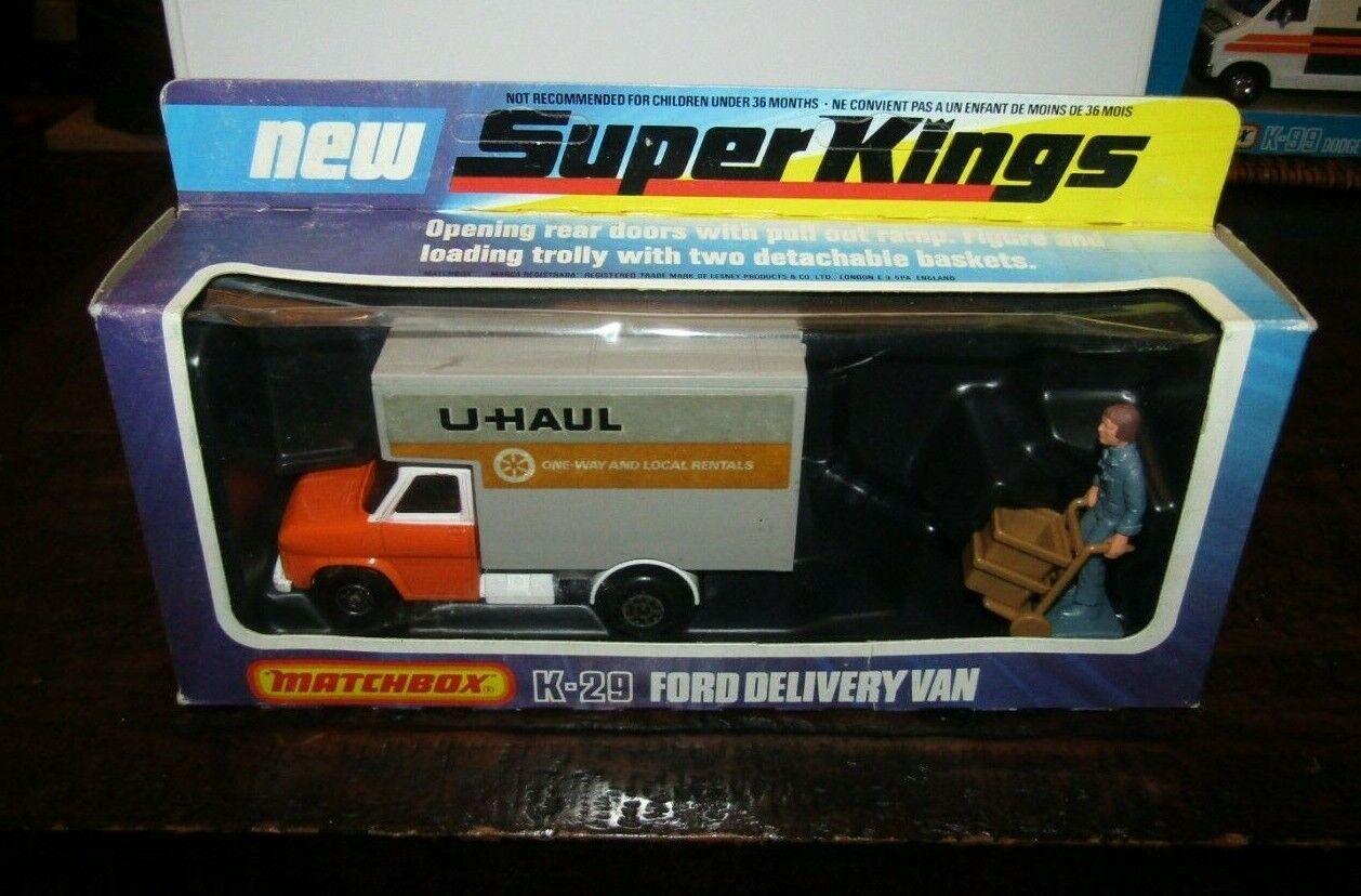 punto de venta barato Matchbox Matchbox Matchbox súperkings K-29 Ford entrega van naranja U-Haul MIB  Tu satisfacción es nuestro objetivo
