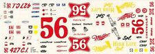 #56 JIM HURTBUTISE 1971 CHEVELLE MILLER HIGH LIFE 1/24th - 1/25th Scale Decals 6