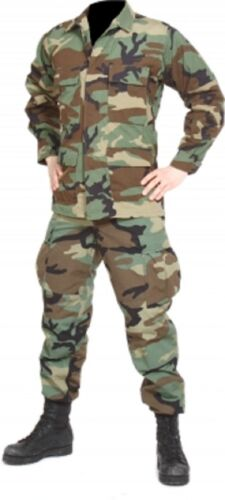 Airsoft US Army Tarnanzug Hose Jacke shirt pants BDU woodland camouflage Small Long Bekleidung & Schutzausrüstung