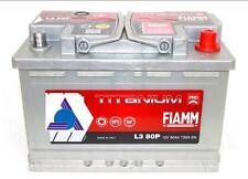 L3 80P BATTERIA FIAMM 80Ah 730 A (spunto)  TITANIUM PRO
