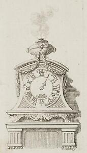 Chodowiecki (1726-1801). un orologio su un consol; pressione grafico 2