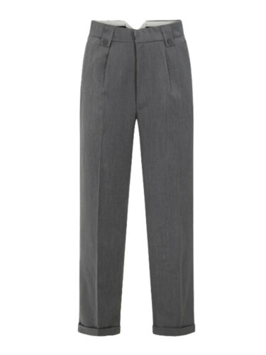 1940s Trousers, Mens Wide Leg Pants   Mens 1940s Swing Vintage Style Grey Fishtail Look Trousers With Turn Up Hems £42.99 AT vintagedancer.com