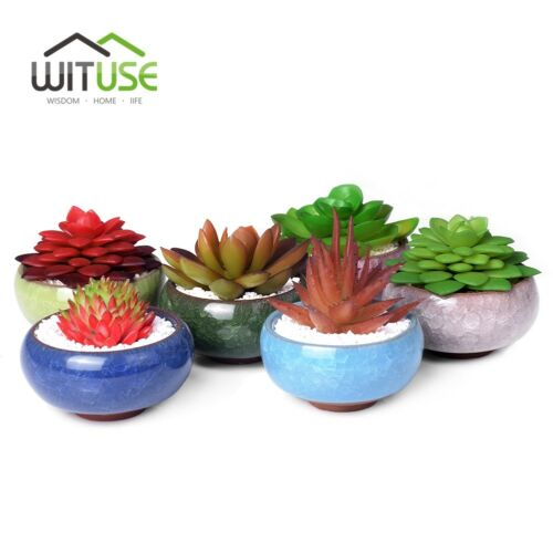 Ice Crack Glaze Flower Ceramics Succulent Plant Mini Pot Garden Flowerpot Hot sm