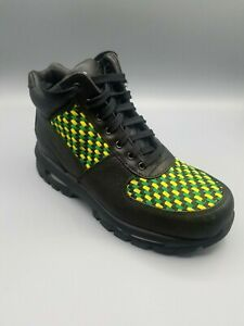 Nike-Air-Max-ACG-Goadome-Pine-Green-Size-7Y-Black-Leather-Boots-311567-031