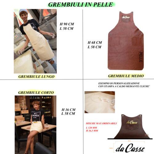 Grembiule artigianale in cuoio o in pelle per aziende o priv. personalizzabile