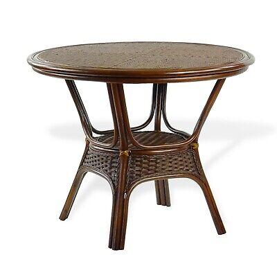 Natural Rattan Wicker ECO Handmade Design Alexa Round Dining Table Dark  Walnut | EBay