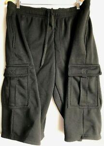Para Hombres Pantalones Del Salon Casual Negro Sudor Pantalones Cortos Camuflados Activewear Bottoms 44 46 Nuevo Ebay