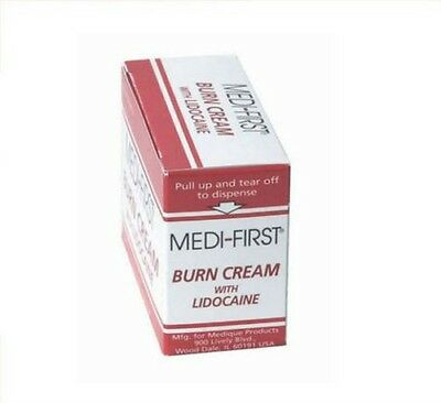 FIRST AID AND BURN CREAM PACKETS 25/BOX (4 Boxes) - MS60765
