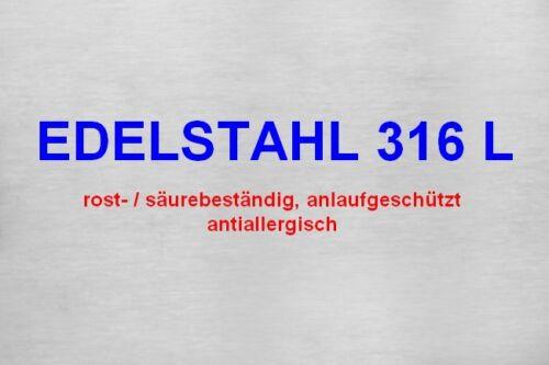 22 mm Dornschließe Edelstahl VERGOLDET massive Ausführung NEU