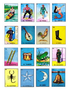 Mexican Loteria Cards EDIBLE Cake Stickers Decals Cupcakes Loteria decorations