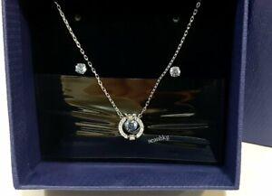 3ea5b9381e54e Details about Swarovski Sparkling Dance Set Round, Blue Necklace/Earrings  RHS Crystal 5480485