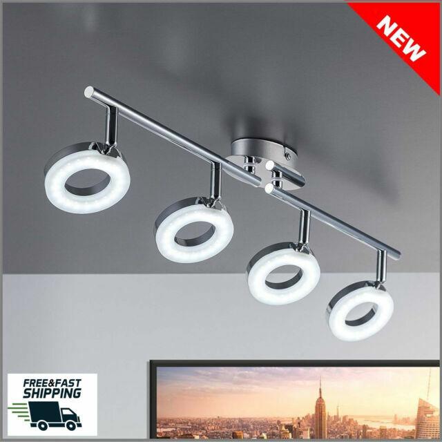 Led Kitchen Ceiling Lights Lamp Large 4 Spotlight Bar Modern Spot Light Gu10 Uk For Sale Online Ebay