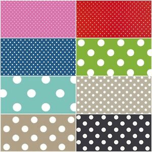 Image Is Loading Oval Wipe Clean Tablecloth Oilcloth Vinyl PVC Polka