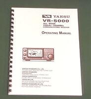Yaesu Vr-5000 Operating Manual - Premium Card Stock Covers & 28 Lb Paper