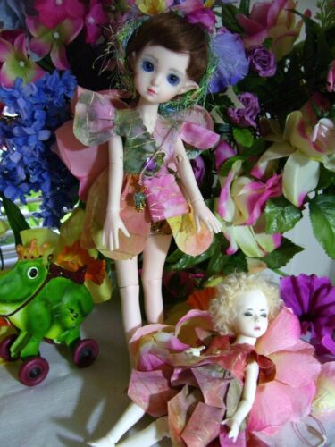 """NEW Fairies Elves BJD PATTERN for 8/"""" to 11/"""" Doll  Little Sewing"""