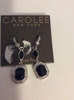 $38 Carolee Royal Redeux Emerald Double Drop Earrings 413