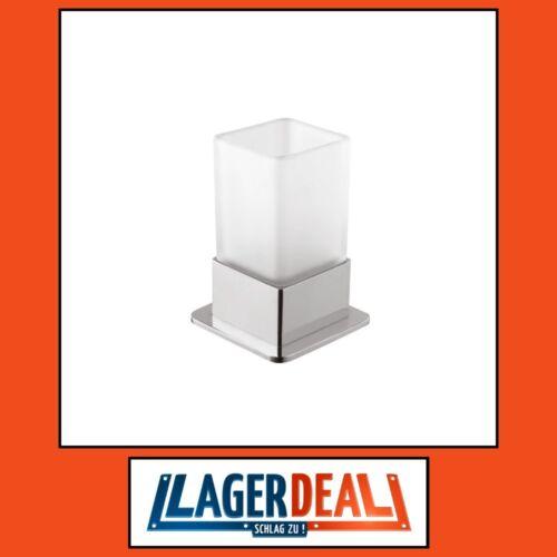 Zahnbürstenhalter 75x110x70mm Milchglas Chrom Badartikel Bad Zubehör Lagerdeal