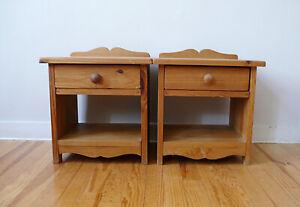 Deux Chevets En Bois Sapin Massif Design AnnÉes 60 70 Vintage Atelier Loft1970