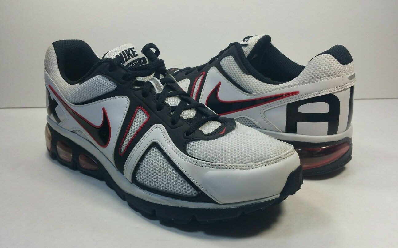 Nike Air Max Agitate 4 120 Wht/Blk/Red Running Shoes - Size 8