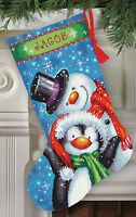 Needlepoint Kit Dimenisons Snowman Polar Pals Christmas Stocking 71-09153